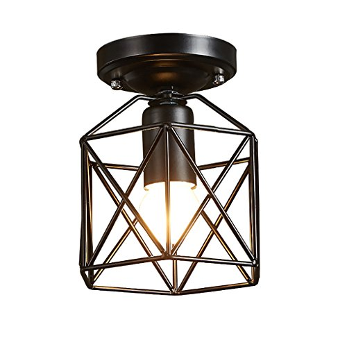 William 337 Simple tête unique plafond industrie entrée lampe couloir décoratifs café flottant fenêtre lumières nuit lumières ( Couleur : Noir )