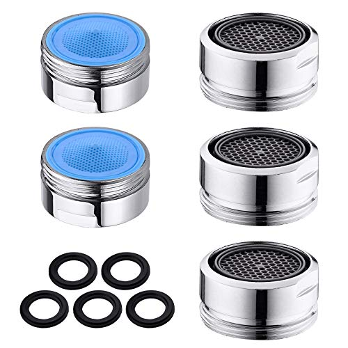 Faucet Aerator, 5 Pack Brass Shell Male 15/16 Inch...