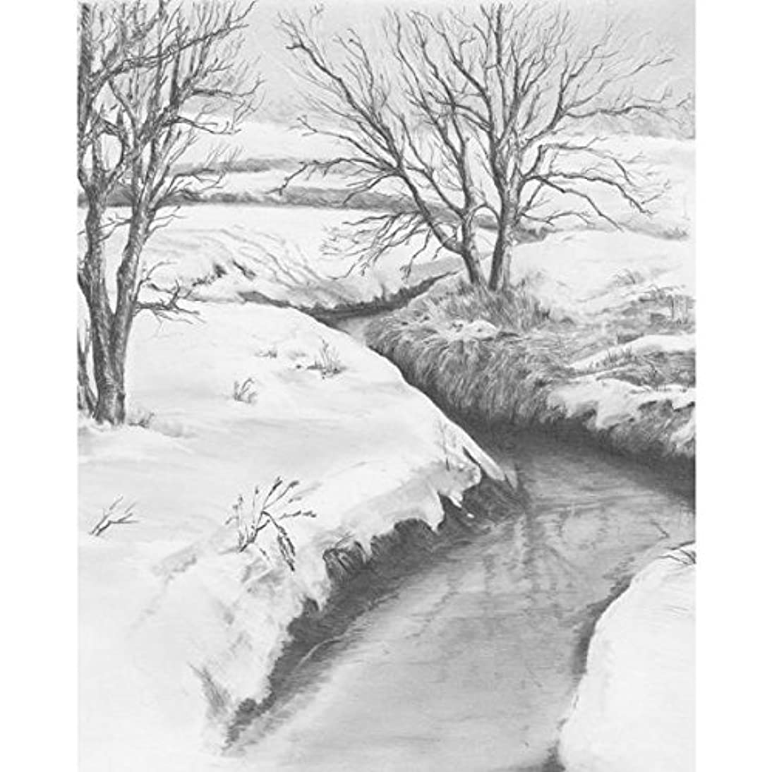 ROYAL BRUSH Sketching Made Easy Kit, 9 by 12-Inch, Winter Creek