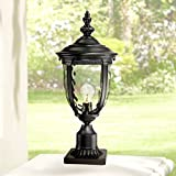 Bellagio Vintage Outdoor Post Light Black 21' Tall Fixture Pier Mount for Deck Patio Porch - John Timberland
