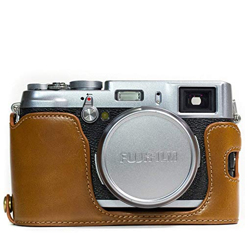 MegaGear Ever Ready - Funda de Piel para Fujifilm X100S, Color marrón Claro