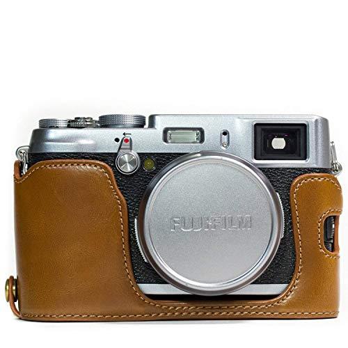 MegaGear Ever Ready - Funda de Piel para Fujifilm X100S, Color marrón Claro