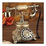 YUBIN Telefono Casa Telefono Telefono Continentale Retro Telefoni antiche Impugnatrici per Uso Domestico Disco Rotante Antico Telefono Vintage Telefono Telefono Telefono Telefono