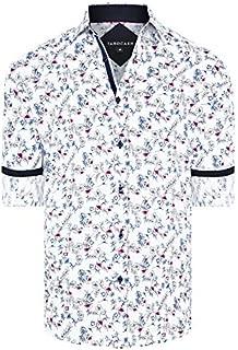 Tarocash Men's Blane Floral Print Shirt Regular Fit Long Sleeve Sizes XS-5XL for Going Out Smart Occasionwear