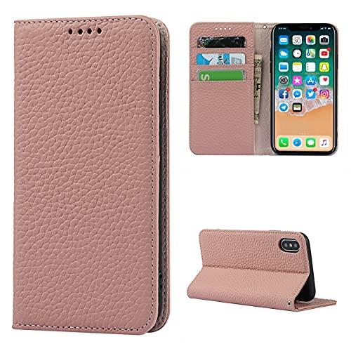 Copmob Coque iPhone 7/8/SE2/SE 2020,Flip Cuir véritable Portefeuille Étui en Cuir,[4 Fentes][Fermeture magnétique],Housse Étuis à Rabat Étui de Protection pour iPhone 7/8/SE2/SE 2020 - Rose