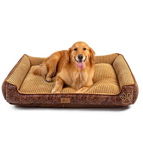 AcornPets B6. Cama para perros suave y superclida, tamao grande, para cachorros, gatos, mascotas, con cmodo forro de polar.