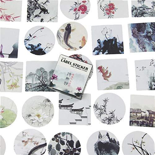YRBB 40 Stks Creatieve Kleine Draak Groen Papier Sticker Decoratie Diy Ablum Dagboek Scrapbooking Label Sticker Leuke briefpapier