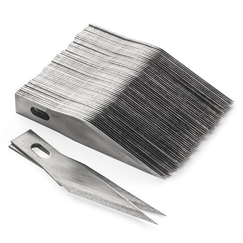 Lote de cuchillas de recambio para cúter (100 unidades, número 11)