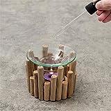 Dirgee Woodwork Teelampe Kerzenhalter, Teelampe Kerzenhalter, personalisierte hölzerne Kerzenhalter for rustikale Hochzeit Geburtstagsurlaub (Color : A)