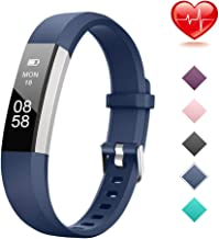 Lintelek Fitness Tracker, Slim Activity Tracker with Heart Rate Monitor, IP67 Waterproof Step Counter, Calorie Counter, Pedometer for Kids, Women, Men and Gift
