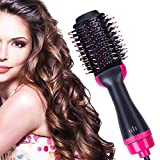 Hair Dryer Brush,4 IN 1 Hot Air Brush Hair Dryer & Volumizer with Negative Ionic for Drying Styling Straightening and Curling Suitable for All Hair Types