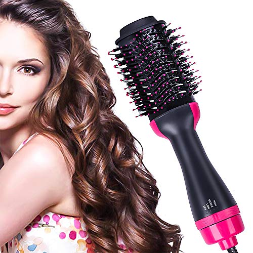 Hair Dryer Brush4 IN 1 Hot Air Brush OneStep Hair Dryer amp Volumizer with Negative Ionicfor Drying Styling Straightening and Curling Suitable for All Hair Types