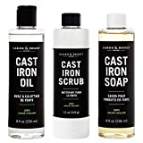 Caron & Doucet - Ultimate Cast Iron Care Set: Seasoning Oil, Cleaning Soap