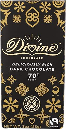 DIVINE CHOCOLATE Chocolate, 70% Deliciously Rich Dark Chocolate, 3 Oz
