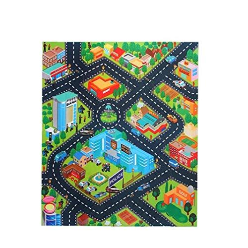 IUwnHceE 1pcs Kinder Activity-Spiel-Matte Teppich Baby Kind Educational Rutschfester Straßenverkehr Spielmatte Für Spielzimmer Klassenzimmer Police Muster