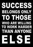 Poster mit inspirierendem Motivationsspruch (Success
