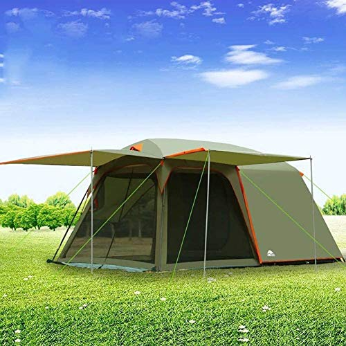 SAIYI Large outdoor tent 5-7 people,anti-storm camping tent camping rain tent anti-UV double-layer tent,Suitable forPicnic, hiking, fishing, adventure, 4.2M*2.7M*2M