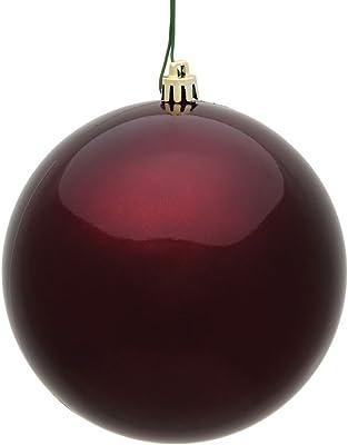 "Vickerman Ball Ornament, 10"", Burgundy"