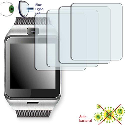 DISAGU 4 x ClearScreen Displayschutzfolie für Aplus Gv18 Anti-bakteriell, BlueLightCut Filter Schutzfolie