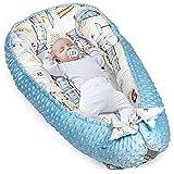 Cálida cuna para recién nacidos, de algodón y Minky con certificado azul minky