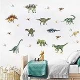 Wandsticker Tier Wandaufkleber Aquarell Dinosaurier Kids