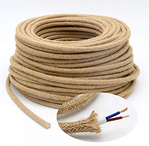 5m Cable Textil de Lino, Cable Trenzado Flexibles...