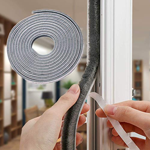 32.8 Ft Self Adhesive Seal Strip Weatherstrip for Windows and Doors House Soundproofing,Windproof,Dustproof,Stronger Stickiness,0.35 Wide X 0.6 inch Thick.