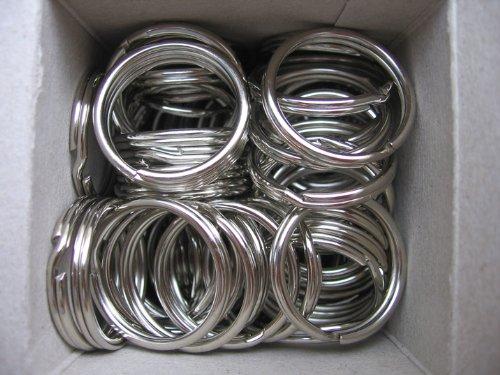 Porte-clés anneaux renforcé nickelé 30 mm lot de 100