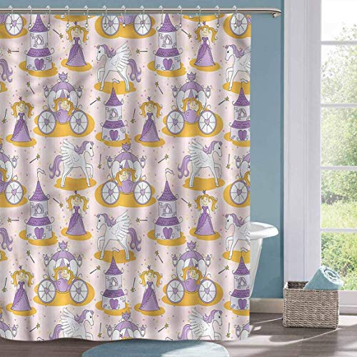 Niedlicher Duschvorhang Prinzessin Zauberstab Little Pony Custom Duschvorhang