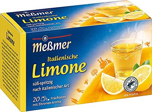 Meßmer Ländertee | Italienische Limone Tee | 20 Teebeutel | Glutenfrei | Laktosefrei | Vegan
