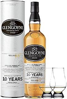 Glengoyne 10 Jahre Single Malt Whisky 0,7 Liter  2 Glencairn Gläser