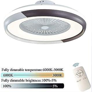 Ventilador De Techo Con Luces Y Control Remoto Viento Ajustable 3 Velocidades Ultra Silencioso, Lámpara LED Moderna Regulable 80W, Lámpara De Ventilador De Sala De Estar Dormitorio,Negro
