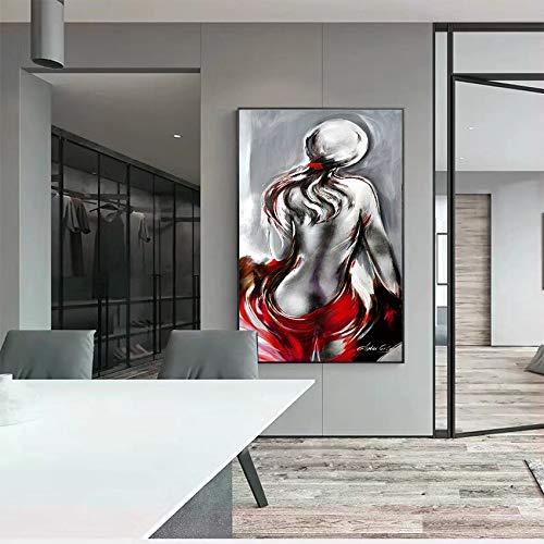 YIYEBAOFU DIY Malen nach Zahlen Farbfigur Frau DIY malen nach Zahlen Erwachsene Blumen Mit Pinsel und Acrylfarbe Erwachsenenfarbe nach Zahlen Digitale Kunst Geeignet für40x50cm(Kein Rahmen)