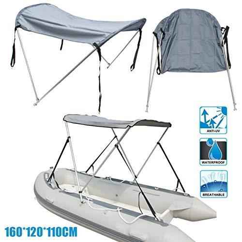 N\A Impermeable Barco Bimini Toldo Plegable de aleación de Aluminio de la Nave Trasera Carpa UV Parasol para Surf