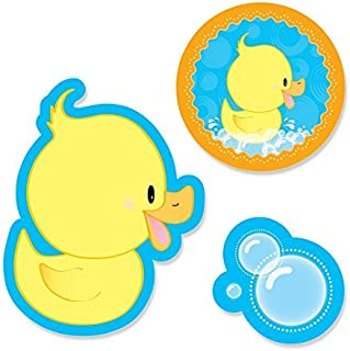 Big Dot of Happiness Ducky Duck - DIY Shaped Baby Shower or Birthday Party Cut-Outs - 24 Count