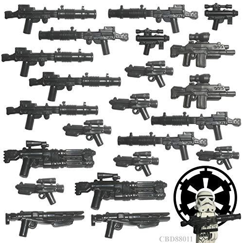 Custom Brick Design 22er Stormtrooper Waffenset Imperiale Armee V.2 | Zubehör für Lego Star Wars Figuren
