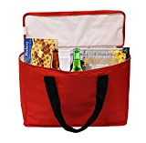 Earthwise Insulated Grocery Bag Tote Extra Large Heavy Duty Nylon Cooler w/Zipper Closure and Inside Pocket