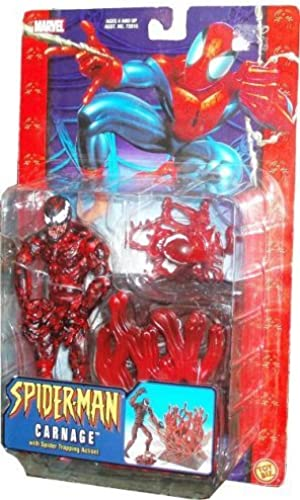 Spider-Man Classic Series 6 Inch Tall Action Figure - CARNAGE with Spider Trapping Action by Spider-Man