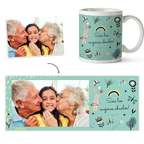 Fotoprix Taza Personalizada con Foto para Abuelo o Abuela | Regalo Original día del Abuelo | Varios diseños Disponibles (Abuelos)