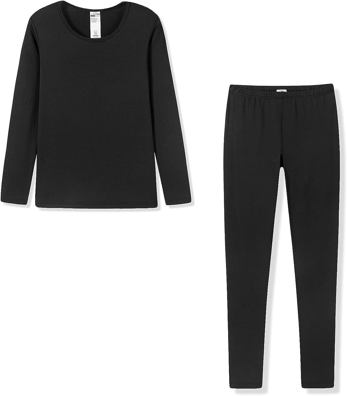 LAPASA Womens Thermal Underwear Set, Fleece Lined Long Underwear Light/Mid/Heavy Weight Top & Bottom (Thermoflux L17/L41/L44)