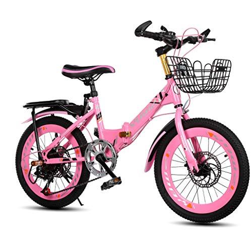 """Bicicleta plegable para niñas rosa de 20"""" de Xiaoping"""