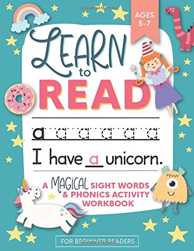 Compare Textbook Prices for Learn to Read: A Magical Sight Words and Phonics Activity Workbook for Beginning Readers Ages 5-7: Reading Made Easy | Preschool, Kindergarten and 1st Grade  ISBN 9781948209540 by Press, Modern Kid