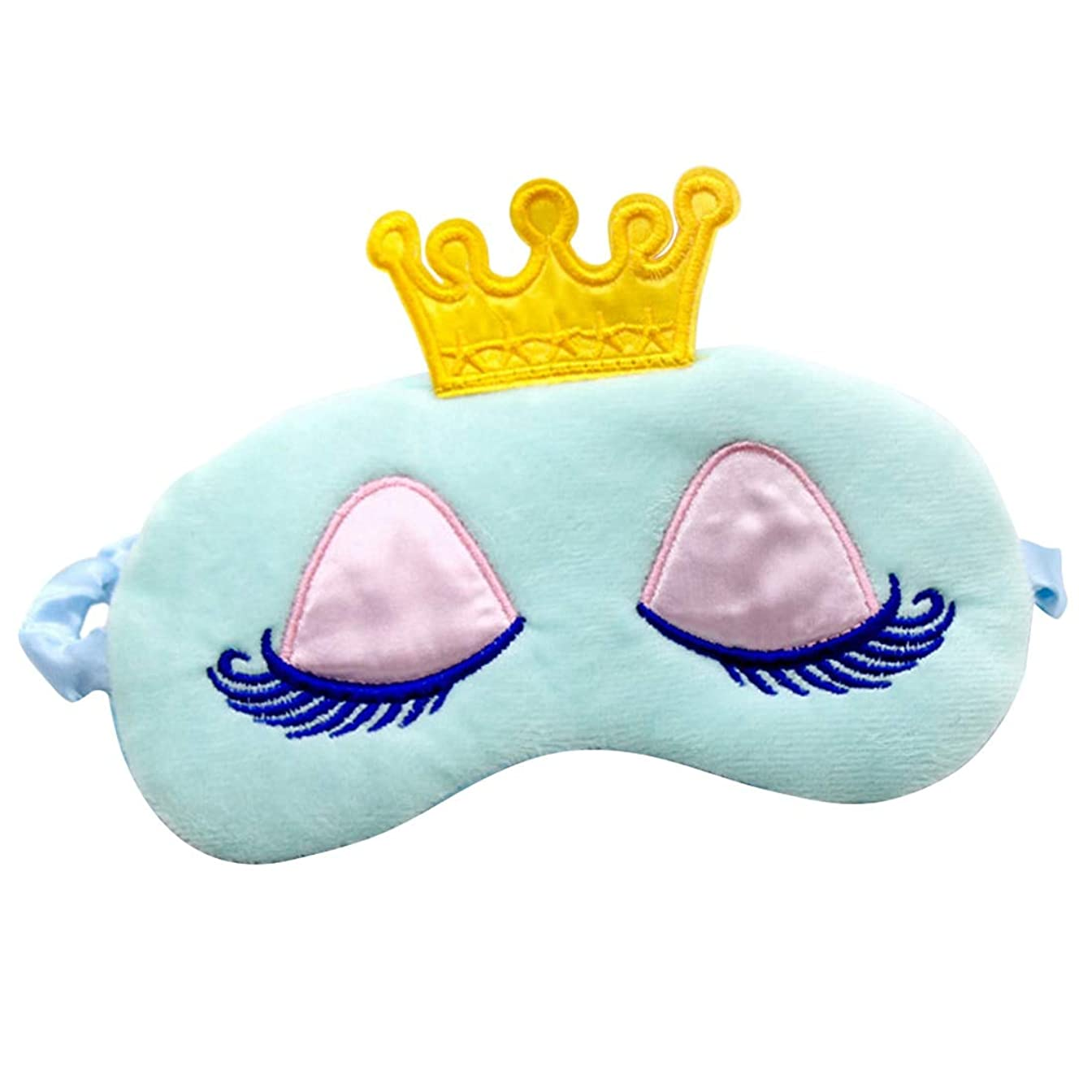 NOTE ピンク/ブルークラウン眠れる森の美女アイシェードアイカバースリーピングマスク/トラベル/ホームロングまつげ目隠しかわいいアイカバー