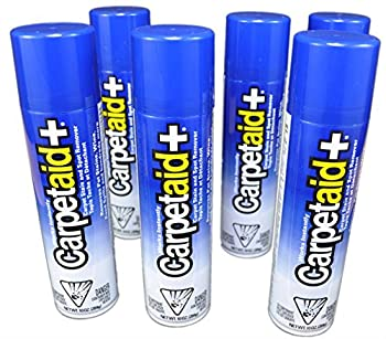 10 Oz CarpetAid+ Carpet Stain Remover & Spot Cleaner  Pack of 6 Cans   Easily and Effectively Remove Food Drink Dirt Mud Pet and Other Stubborn Stains Instantly  No Rubbing or Scrubbing
