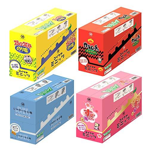 【Amazon.co.jp限定】 湖池屋 スティックポテト アソート(24袋入) 【BL】 4種計4箱入