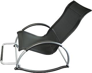 Big Home Shop Trueshopping Ledro Rocking Chair con reposapi