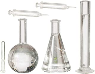 Melody Jane Dolls House Test Tube Beaker Injection Set Chemistry Hospital School Accessory