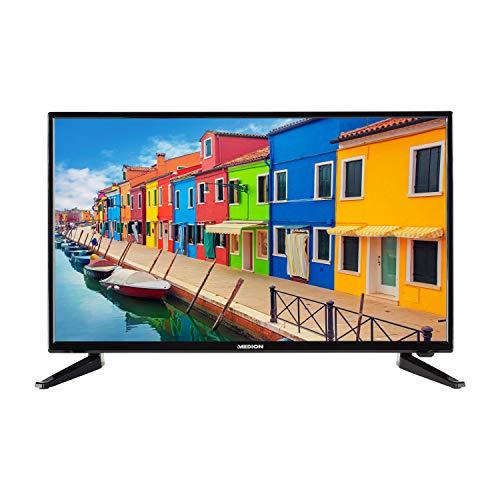 MEDION E12844 69,9 cm (27,5 Zoll) HD Fernseher (HD Triple Tuner, DVB-T2 HD, CI+, Mediaplayer, 3 x HDMI, SCART, VGA, USB)