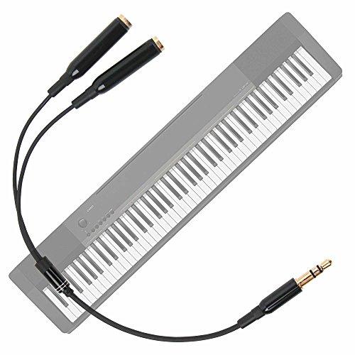 DURAGADGET Práctico Divisor De Auriculares para Teclado/Piano Eléctrico Casio 8435017321725, Casio CDP130...