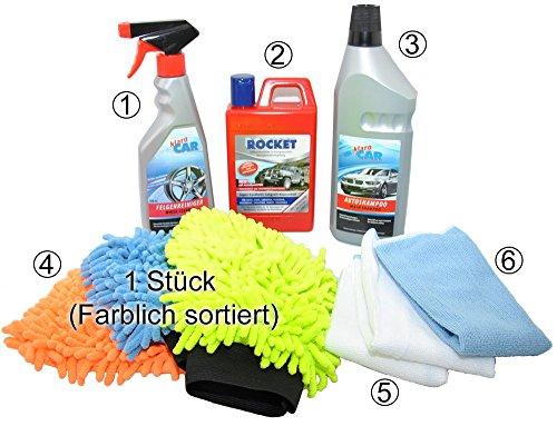 Autopflege- & Reinigungs Set 7-tlg. - Waschset - Autopflegeset - Reinigungsset